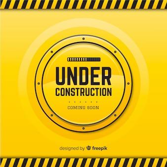 Fondo plano en construcción