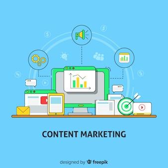 Fondo plano contenido marketing
