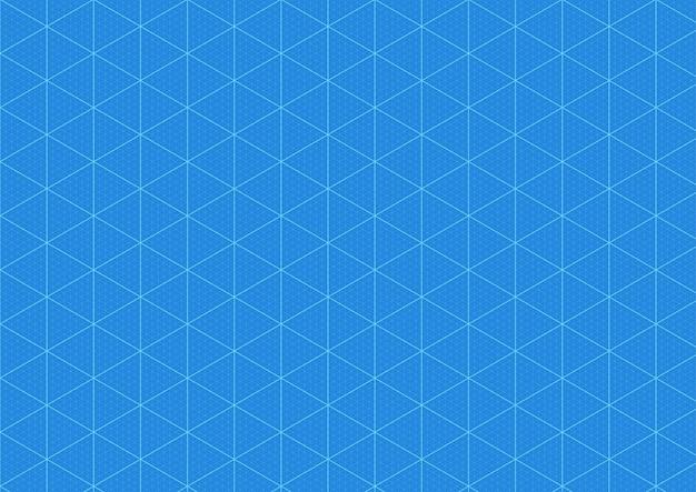 Fondo plano, cuadrícula de impresión azul de papel cuadriculado, vector