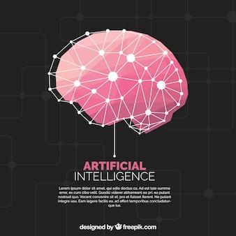 Fondo plano de inteligencia artificial
