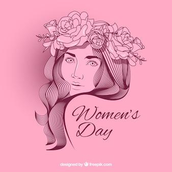Fondo plano del día de la mujer