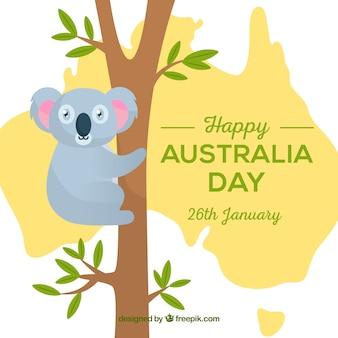 Fondo plano del día de australia