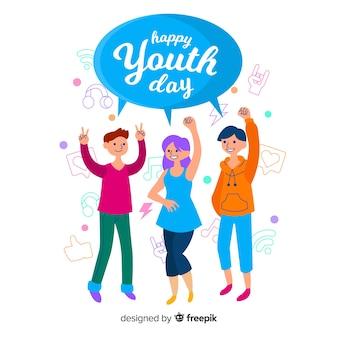 Fondo plano del día de la juventud.
