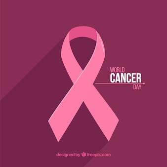 Fondo plano del día mundial del cáncer