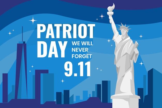 Fondo plano del día del patriota 9.11