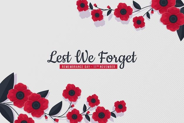 Fondo plano del día del recuerdo