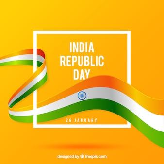 Fondo plano del día de la república de india