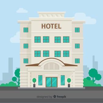 Fondo plano edificio de hotel