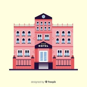 Fondo plano edificio hotel