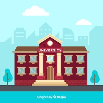 Fondo plano edificio universidad