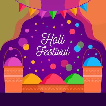 Fondo plano festival holi
