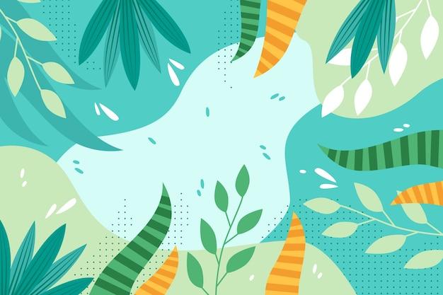 Fondo plano floral abstracto
