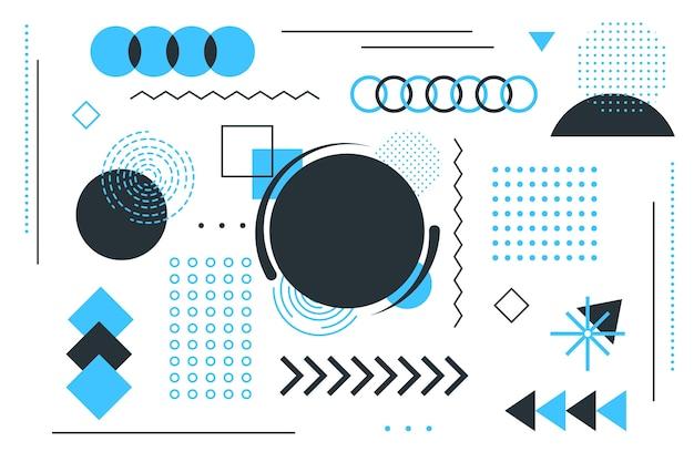 Fondo plano de formas geométricas