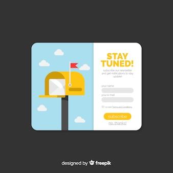 Fondo plano formulario newsletter