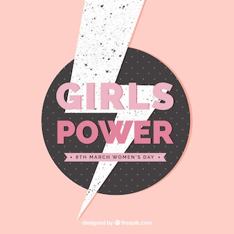 Fondo plano girls' power