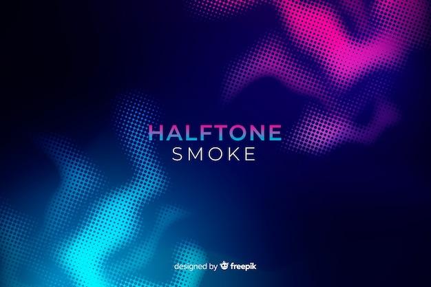 Fondo plano humo halftone duotono