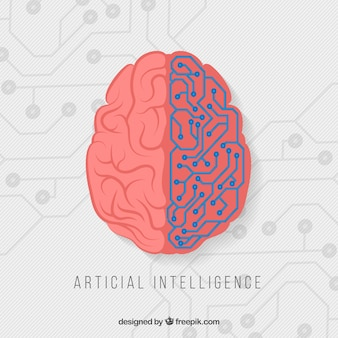 Fondo plano de inteligencia artificial