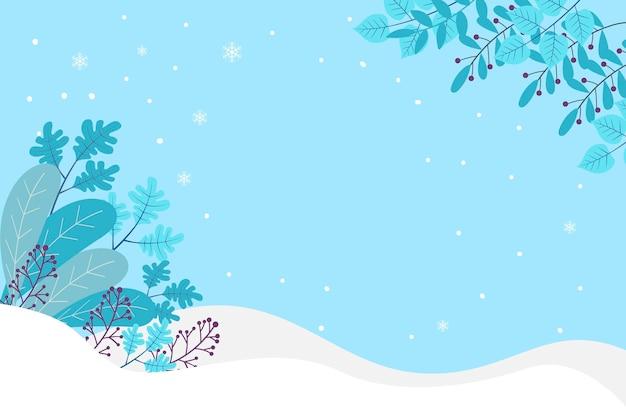 Fondo plano de invierno