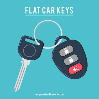 Fondo plano de llave coche