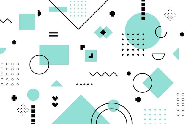 Fondo plano de modelos geométricos