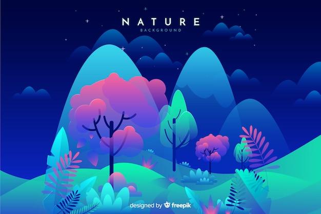 Fondo plano de la naturaleza