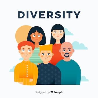 Fondo plano de personas diferentes