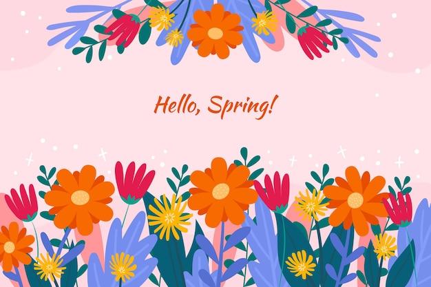 Fondo plano de primavera