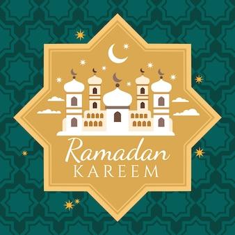 Fondo plano de ramadan kareem