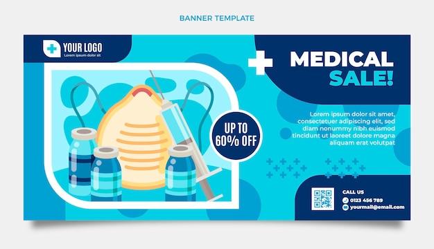 Fondo plano de venta médica