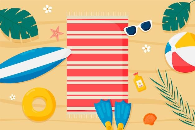 Fondo plano de verano