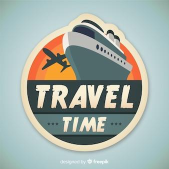 Fondo plano vintage de viajes