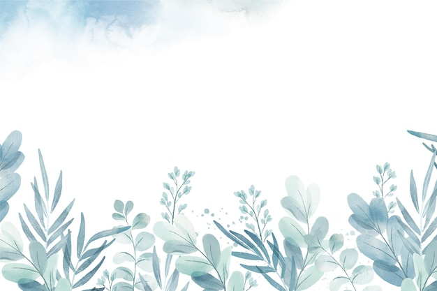 Fondo de plantas de acuarela pintado a mano