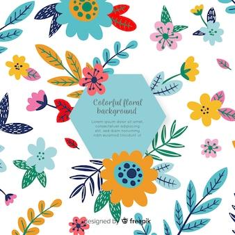 Fondo plantas dibujadas a mano coloridas