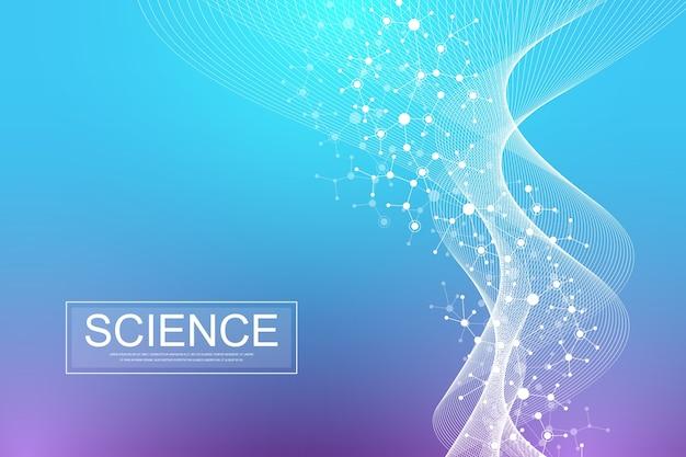Fondo de plantilla de banner de información científica.