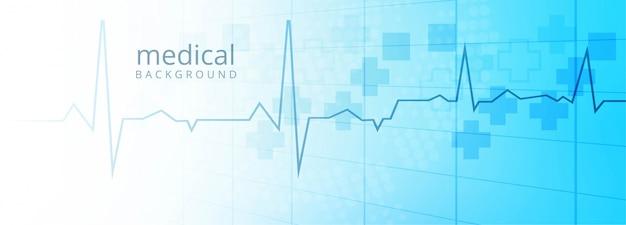 Fondo de plantilla de banner de salud y médica