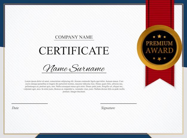 Fondo de plantilla de certificado. diseño de diploma de premio en blanco.