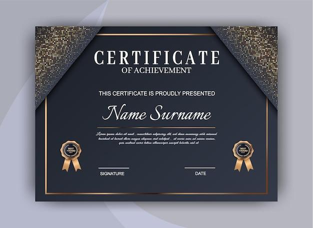 Fondo de plantilla de certificado. premio diploma diseño en blanco.