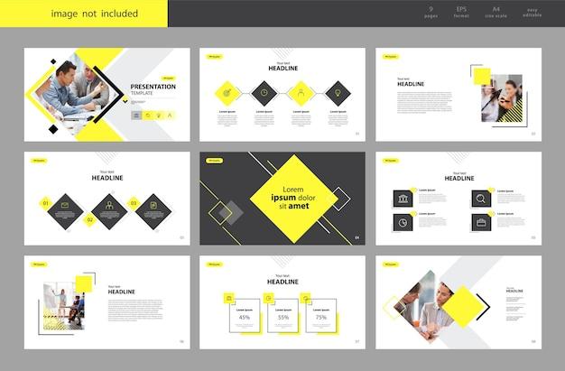 Fondo de plantilla de diseño de presentación de negocios