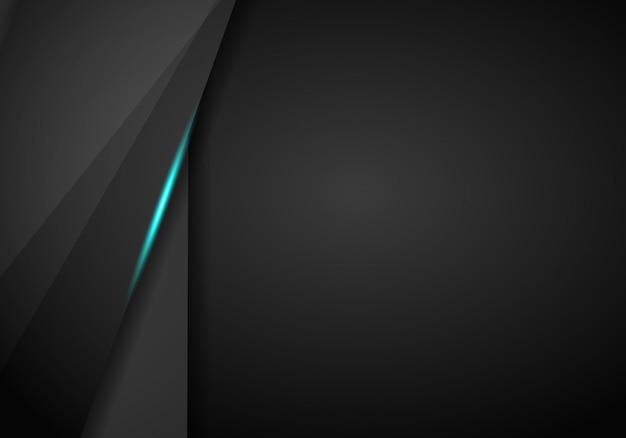 Fondo de plantilla de diseño de tecnología moderna de diseño abstracto azul negro metálico fondo