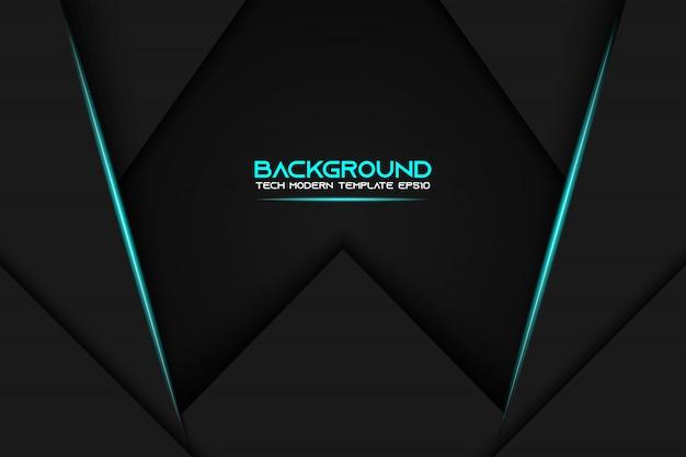 Fondo de plantilla de diseño de tecnología moderna de diseño de marco negro azul metálico abstracto
