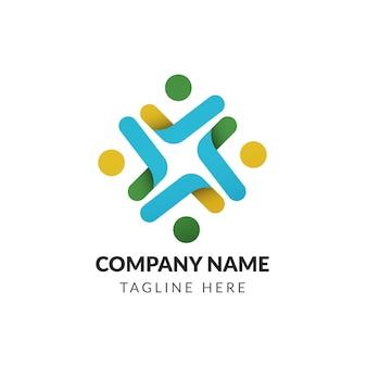 Fondo con plantilla de logo