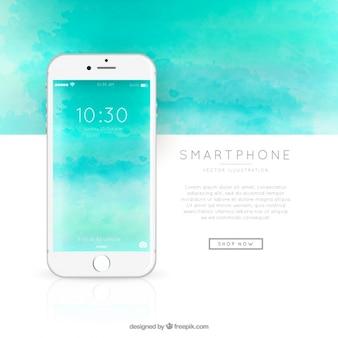 Fondo de plantilla de smartphone