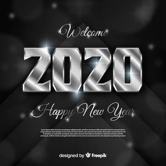 Fondo de plata año nuevo 2020