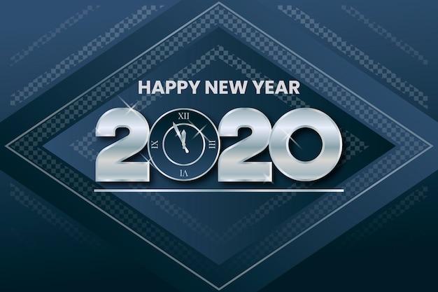 Fondo de plata año nuevo
