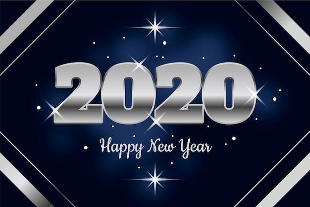 Fondo plata año nuevo