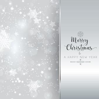 Fondo de plata de navidad y año nuevo
