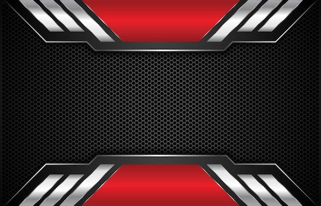 Fondo plateado rojo metálico moderno