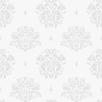 Fondo plateado vintage con adornos para invitaciones de boda