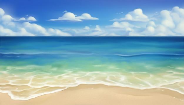 Fondo de playa de verano