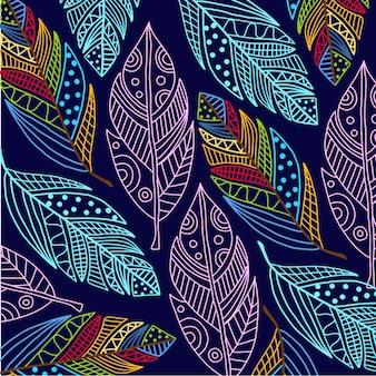 Fondo de plumas de colores